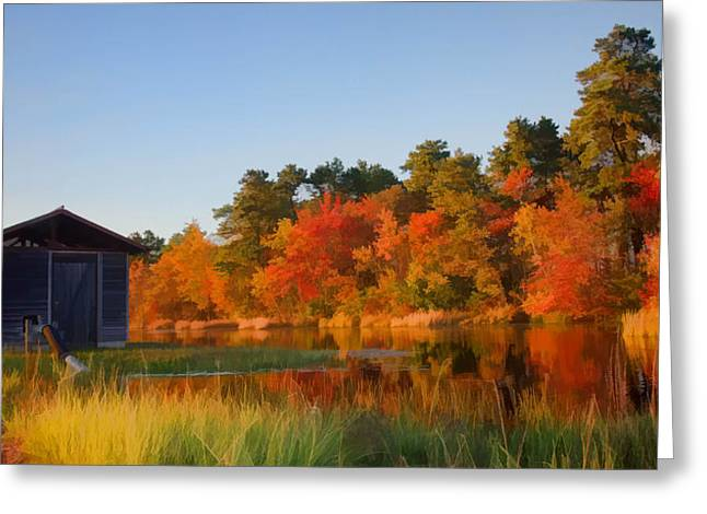 Autumn At The Bog Greeting Card by Beth Sawickie