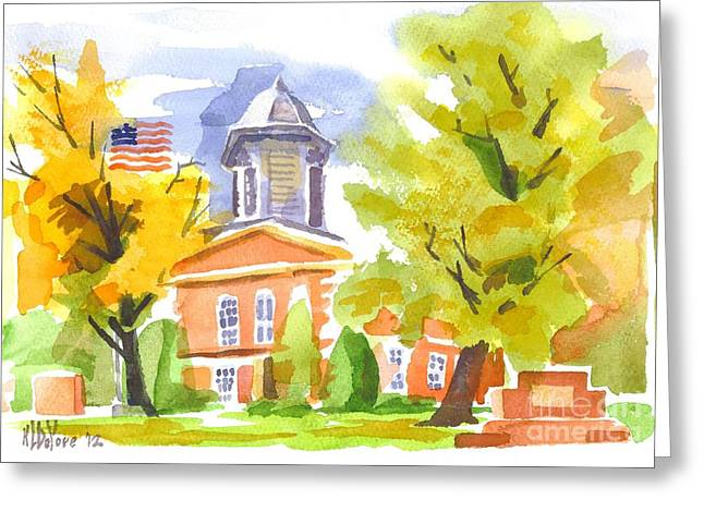 Brigadoon Greeting Cards - Autumn at the Courthouse Greeting Card by Kip DeVore