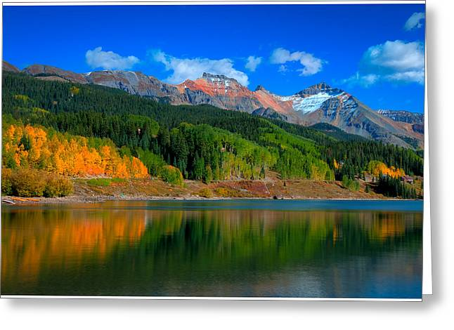 Iron Pyrography Greeting Cards - Autumn at the Lake Greeting Card by Gary Pack
