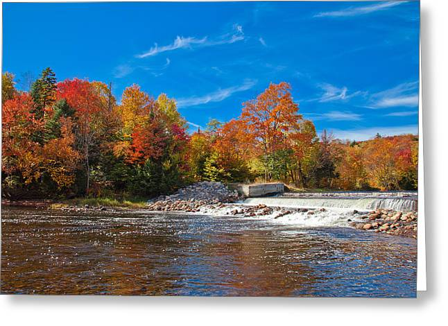 Old And New Greeting Cards - Autumn at the Lock and Dam Greeting Card by David Patterson