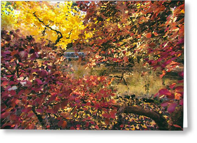 Autumn At The Park Greeting Card by Carrie Cole