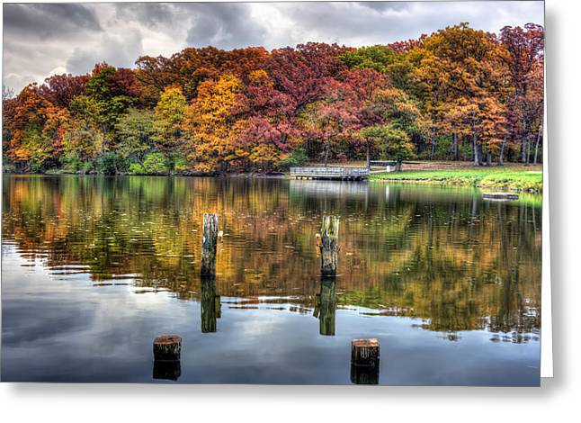 Indiana Autumn Greeting Cards - Autumn At The Pond Greeting Card by Scott Wood