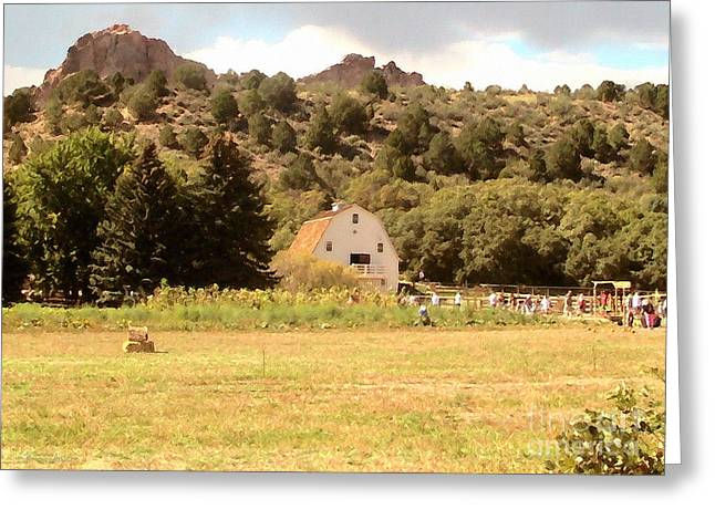 Ledge Greeting Cards - Autumn at the Ranch Greeting Card by Cristophers Dream Artistry