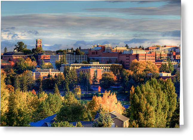 Fall Scene Greeting Cards - Autumn at WSU Greeting Card by David Patterson