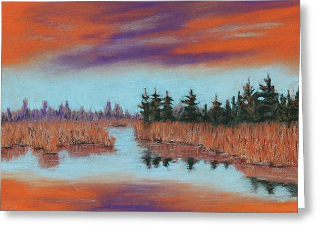 Canada Pastels Greeting Cards - Autumn Attitude Greeting Card by Anastasiya Malakhova