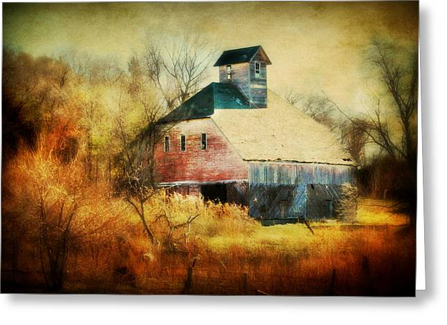 Cupola Greeting Cards - Autumn Barn Greeting Card by Julie Hamilton