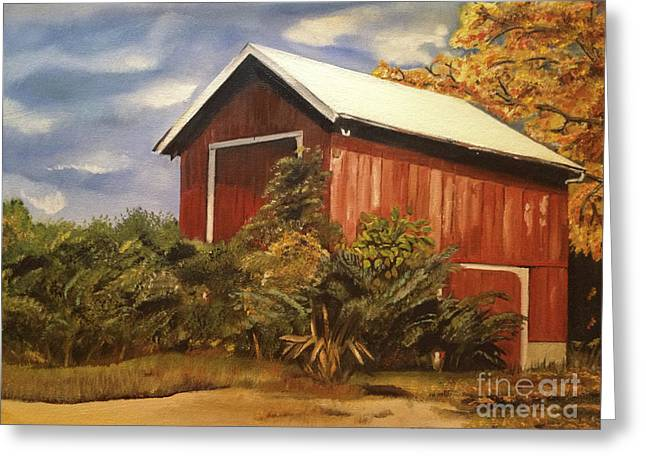 Old Barns Greeting Cards - Autumn - Barn - Ohio Greeting Card by Jan Dappen