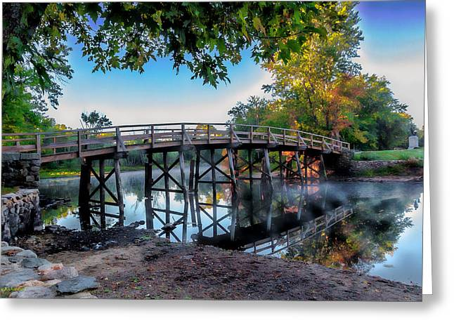 Concord Ma. Greeting Cards - Autumn begins  Greeting Card by Larry  Richardson