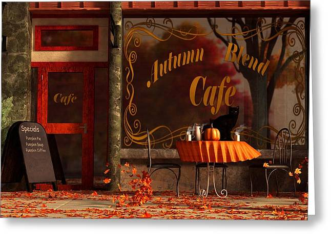 Autumn Digital Greeting Cards - Autumn Blend Greeting Card by Daniel Eskridge