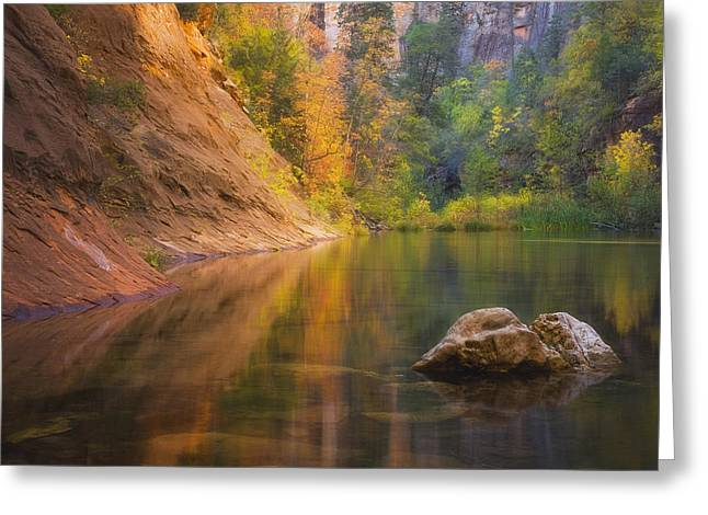 Autumn Bliss Greeting Card by Peter Coskun