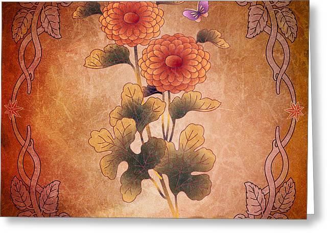 Autumn Blooming Mum Greeting Card by Bedros Awak