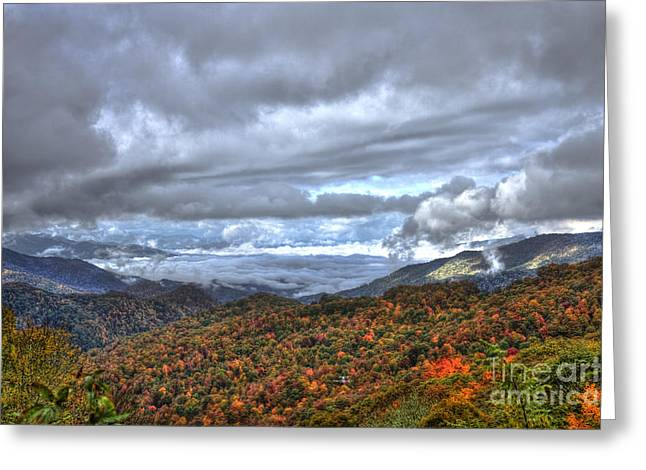 Jackson County Greeting Cards - Autumn Blue Ridge Parkway North Carolina Greeting Card by Reid Callaway