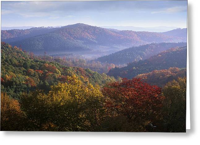 Photos Of Autumn Greeting Cards - Autumn Blue Ridge Parkway North Carolina Greeting Card by Tim Fitzharris