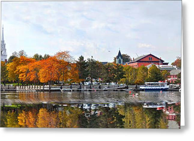 Sailboat Art Greeting Cards - Autumn Boardwalk 2010 Greeting Card by John Brown