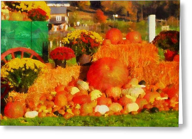 Colors Of Autumn Greeting Cards - Autumn Bounty Greeting Card by Dan Sproul