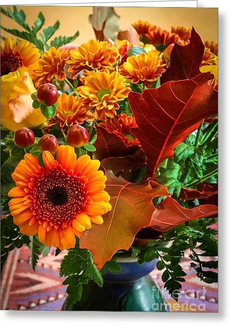 Autumn Flowers Greeting Cards - Autumn Bouquet Greeting Card by Lutz Baar