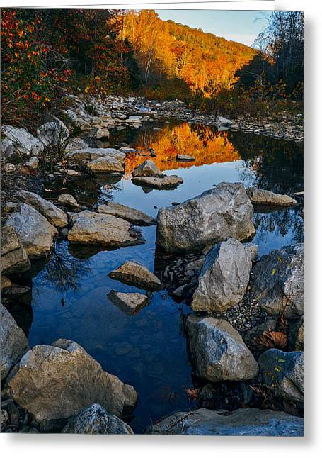 Devils Den Greeting Cards - Autumn Calm Greeting Card by Jeff Rose