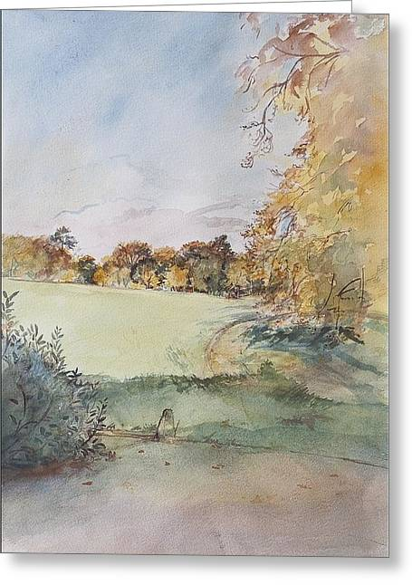 Autumnal Greeting Cards - Autumn Greeting Card by Caroline Hervey-Bathurst