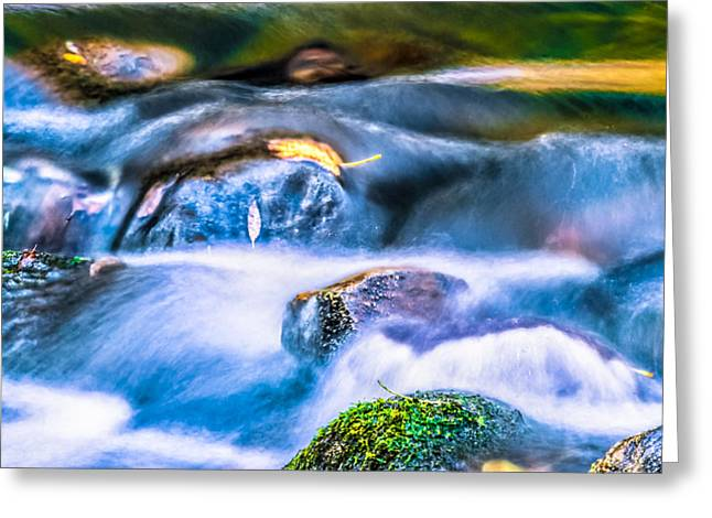 Beautiful Creek Greeting Cards - Autumn Cascades Greeting Card by Optical Playground By MP Ray
