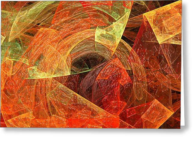 Tangerine Greeting Cards - Autumn Chaos 2 Greeting Card by Andee Design