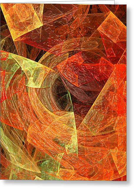 Tangerines Greeting Cards - Autumn Chaos Greeting Card by Andee Design