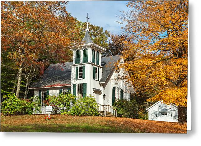 Autumn In The Country Greeting Cards - Autumn Church Greeting Card by Bill  Wakeley