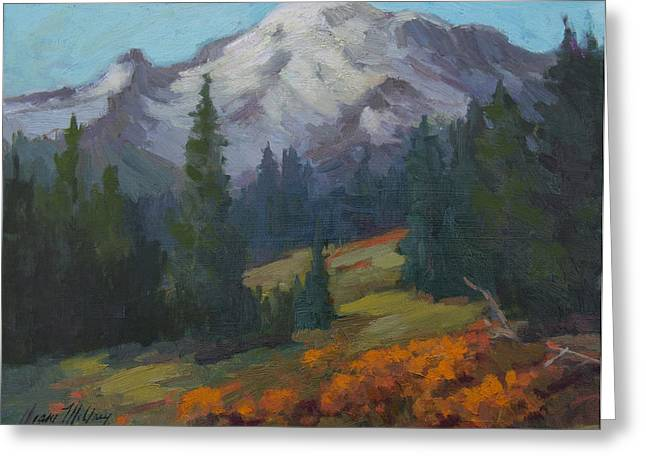 Pacific Northwest Greeting Cards - Autumn Color at Mount Rainier Greeting Card by Diane McClary