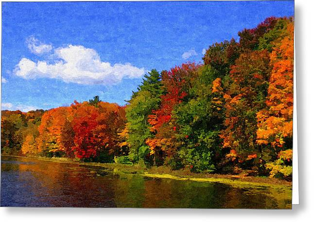 Oil Like Digital Greeting Cards - Autumn Colors Greeting Card by Donna Lorello