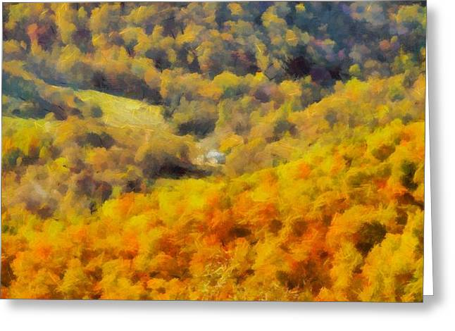 National Park Mixed Media Greeting Cards - Autumn Colors In Shenandoah Greeting Card by Dan Sproul