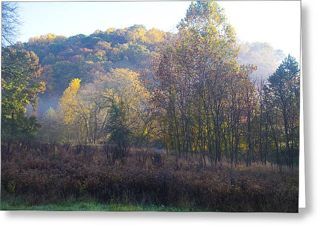 Colors Of Autumn Greeting Cards - Autumn Colors of Valley Forge Greeting Card by Bill Cannon
