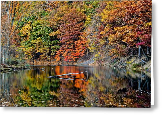 Substantial Greeting Cards - Autumn Colors Reflect Greeting Card by Frozen in Time Fine Art Photography