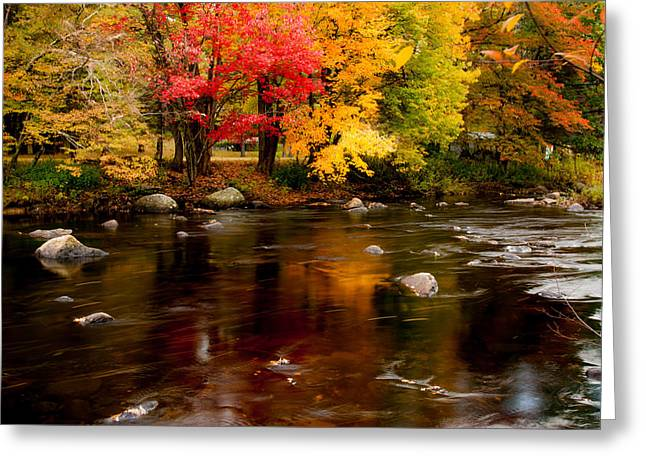Autumn Colors Reflected Greeting Card by Jeff Folger