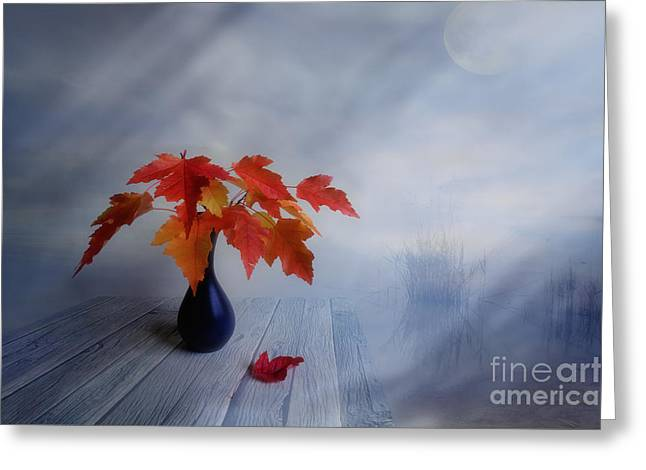 Multicolored Digital Greeting Cards - Autumn colors Greeting Card by Veikko Suikkanen