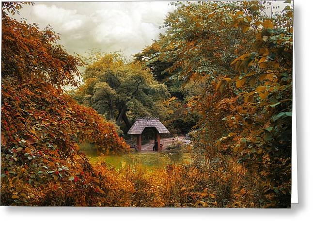 Autumn Cove Greeting Card by Jessica Jenney