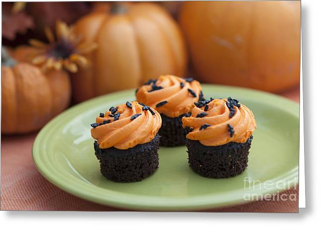 Chocolate Frosting Greeting Cards - Autumn Cupcakes Greeting Card by Juli Scalzi