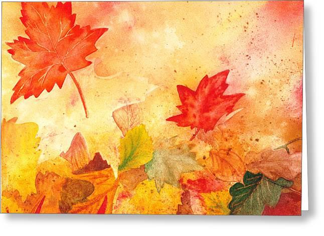 Autumn Dance Greeting Card by Irina Sztukowski