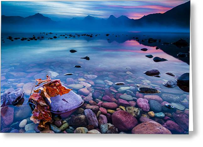 Apgar Greeting Cards - Autumn Dawn in the Glacier National Park Greeting Card by Christopher Martin