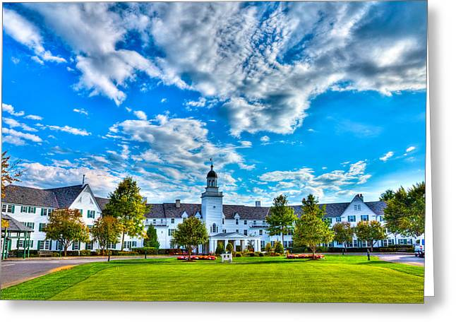 The Lake George Greeting Cards - Autumn Day at the Sagamore Resort Greeting Card by David Patterson