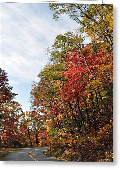 Autumn Photographs Greeting Cards - Autumn Day on the Blue Ridge Parkway Greeting Card by Bruce Gourley