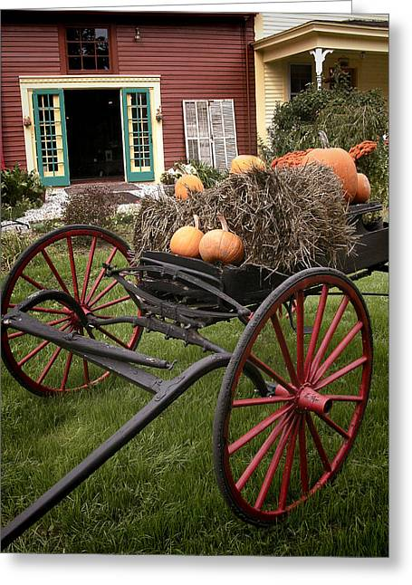 Old Maine Barns Greeting Cards - Autumn Decor Greeting Card by Ray Summers Photography