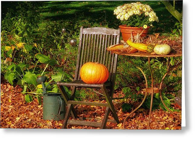 Pleasing Greeting Cards - Autumn Decorative Flair Greeting Card by Mountain Dreams