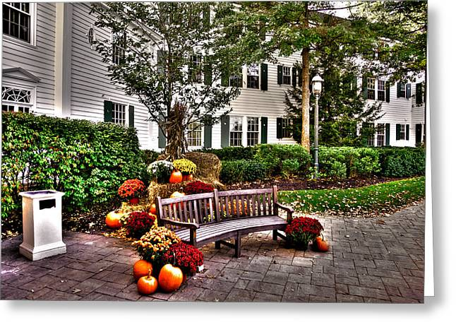The Lake George Greeting Cards - Autumn Display at the Sagamore Resort Greeting Card by David Patterson
