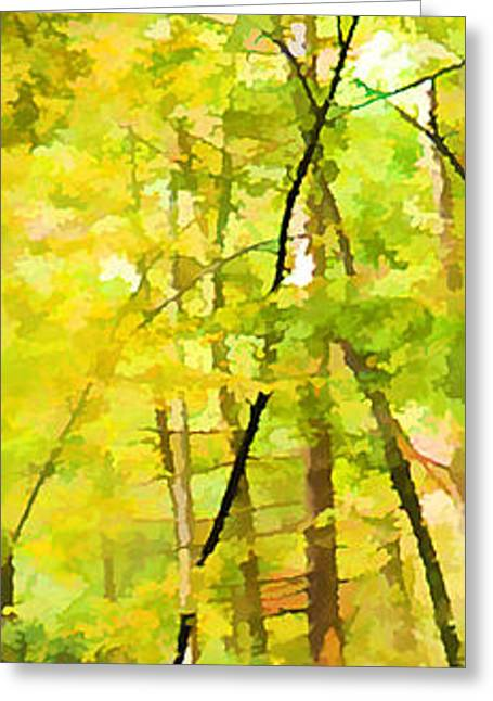Gatlinburg Tennessee Greeting Cards - Autumn Dreams Greeting Card by Alison Thomas
