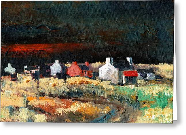 Tour Ireland Greeting Cards - Autumn Dusk Greeting Card by Val Byrne