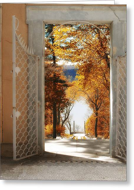 Autumn Entrance Greeting Card by Jessica Jenney