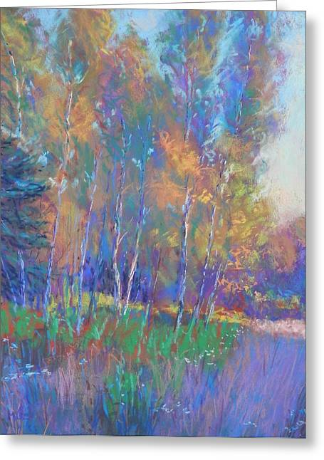 Fall Grass Pastels Greeting Cards - Autumn Fantasy Greeting Card by Michael Camp