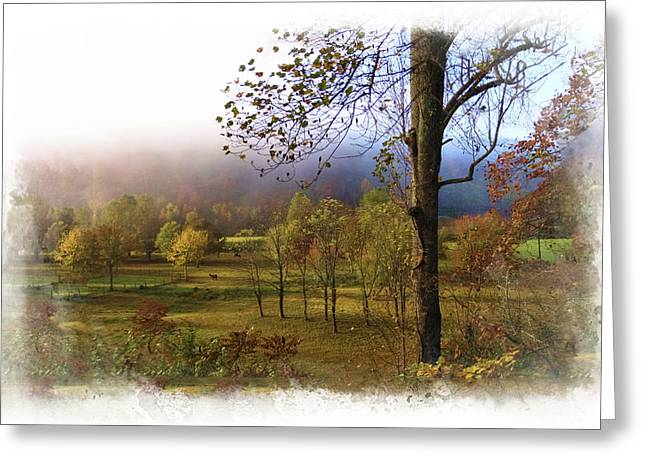 Tennessee Farm Greeting Cards - Autumn Farm Greeting Card by Debra and Dave Vanderlaan