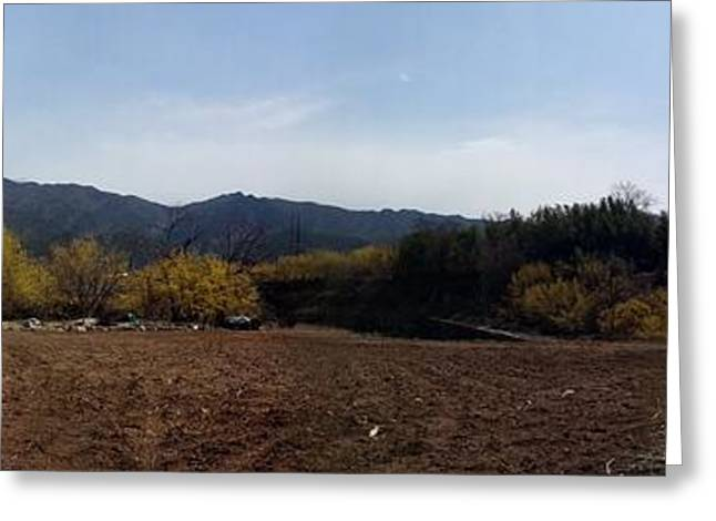 Autumn Photographs Paintings Greeting Cards - Autumn Field Photo Greeting Card by Seon-Jeong Kim