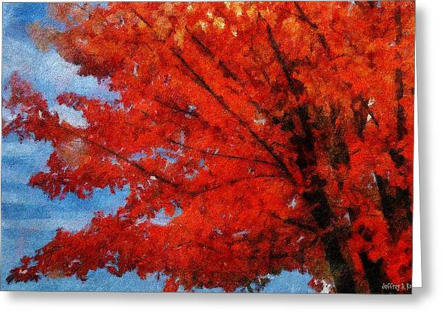 Autumn Fire Greeting Card by Jeff Kolker