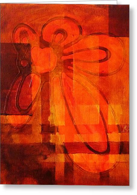 Autumn Fire Greeting Card by Nancy Merkle
